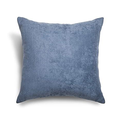 SuenosZzz- COJIN Relleno. Cojines Decoracion, Sofa,Cama, tapizado Acualine Antimanchas Azul. Medidas: 48x48. Decoracion CASA.