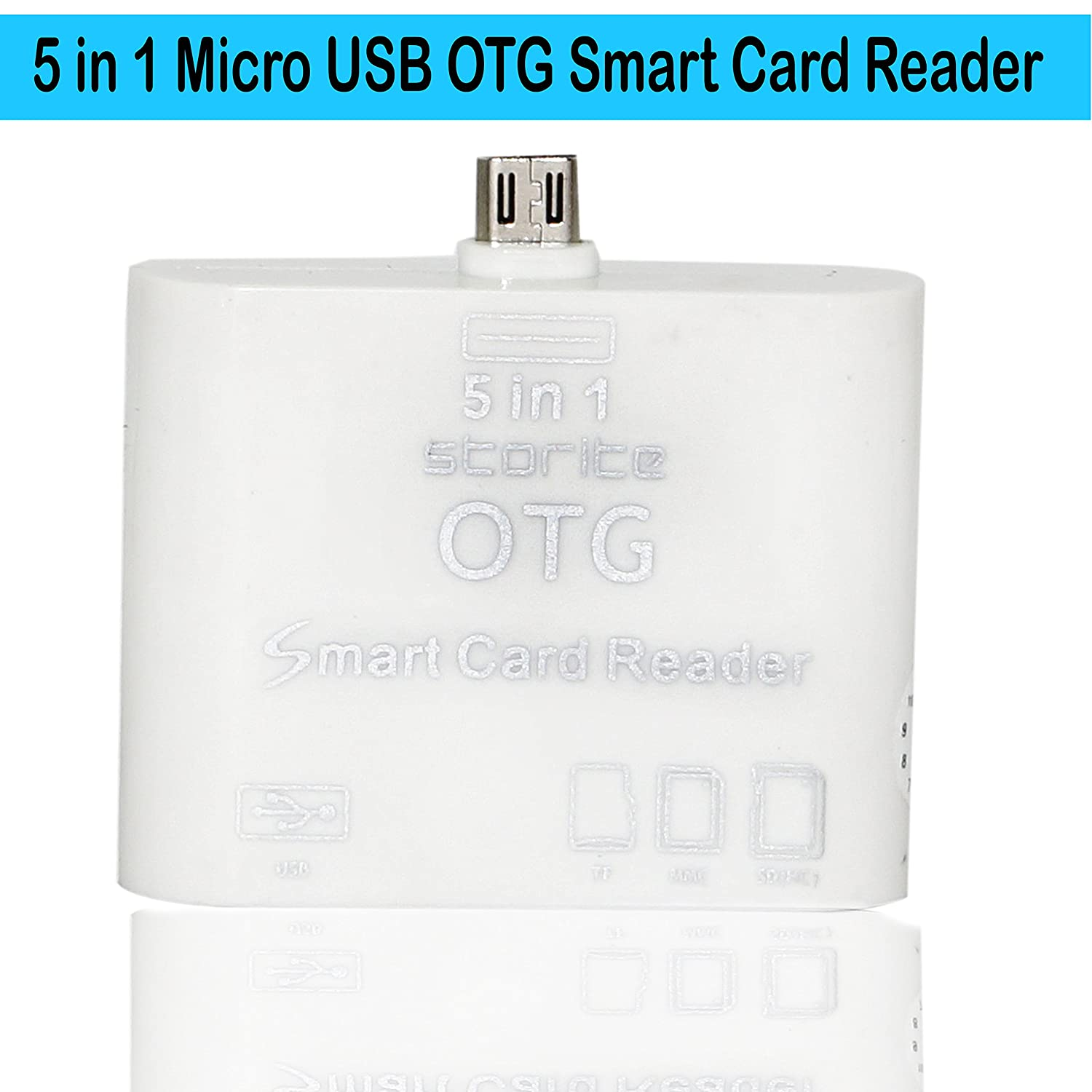 Buy Storite 5 In 1 Micro Usb Otg Card Reader Sdhc M2 Cardreader Mmc Ms Tf Connection Kit For Smart Phones And Android Tablets White Online At Low Prices