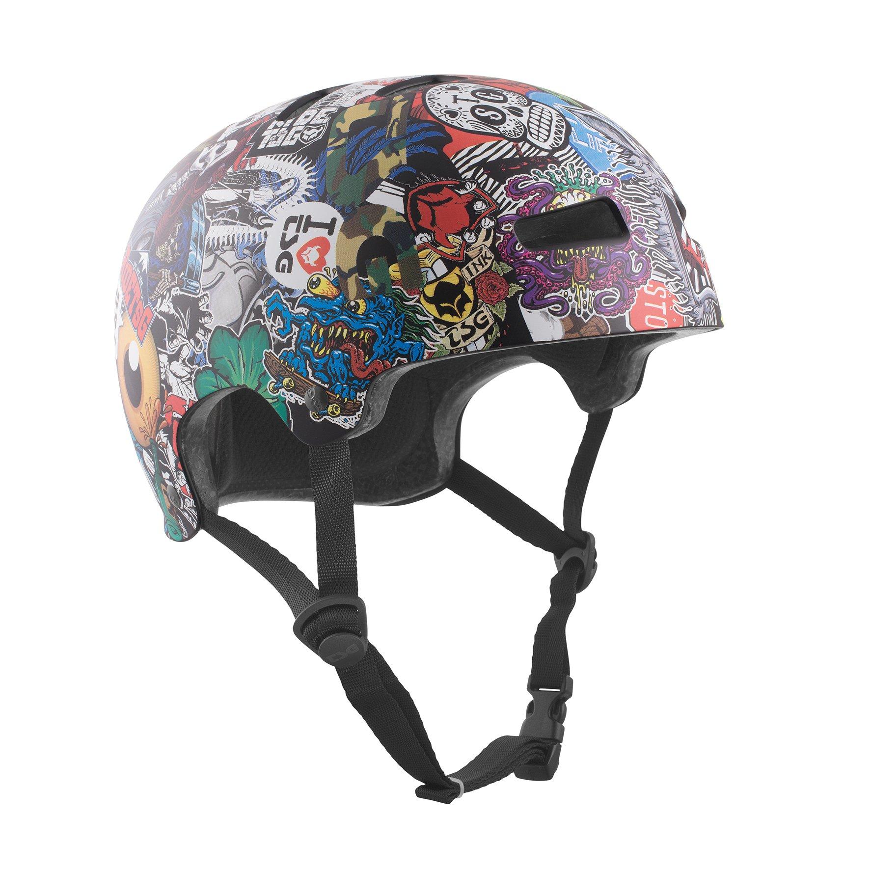 TSG - Evolution Graphic Design (collage, L/XL 57-59 cm) Helmet for Bicycle Skateboard