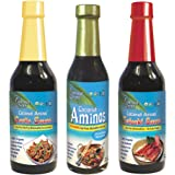 Coconut Secret Coconut Aminos Variety Pack - Coconut Aminos Original, Garlic Sauce & Teriyaki Sauce - 1 Each, 8-10 fl oz…