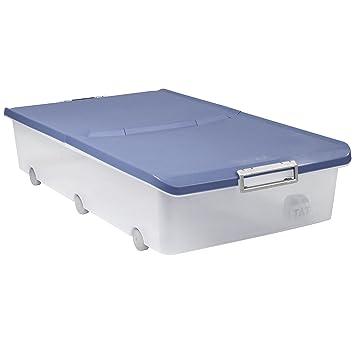 Tatay 1151107 - Aufbewahrungsbox für unter das Bett mit Rollen, 63 l