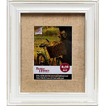 Amazoncom Better Homes And Gardens 8x10 Frame Distressed White