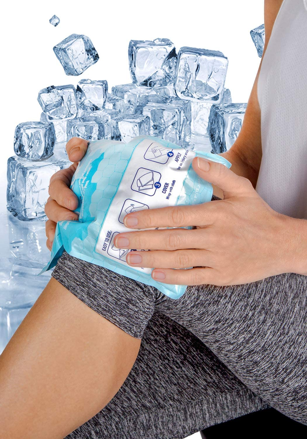 ICEWRAPS Instant Cold Pack - Emergency Disposable Ice Packs for Injuries, Sports, Camping or Hiking First Aid Kit (24 Cold Packs): Health & Personal Care