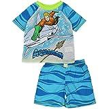 Justice League DC Comics Aquaman Boy's Short Sleeve Top and Shorts Pajamas Set