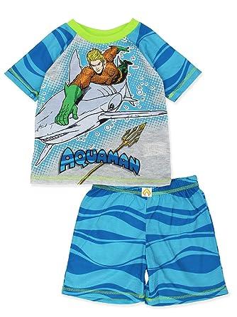 e26641598a Justice League DC Comics Aquaman Boy's Short Sleeve Top and Shorts Pajamas  Set (X-