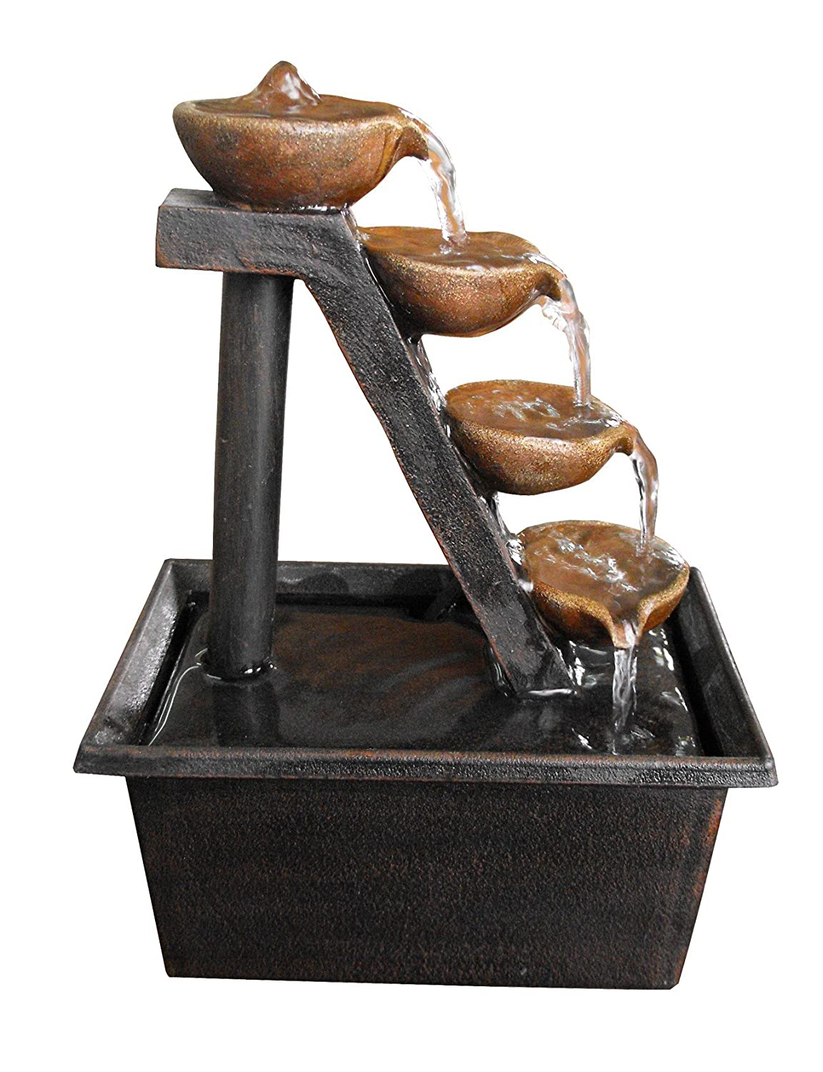 Amazon.com : Alpine WCT324 4 Tier Step Tabletop Fountain : Tabletop Garden  Fountains : Garden U0026 Outdoor