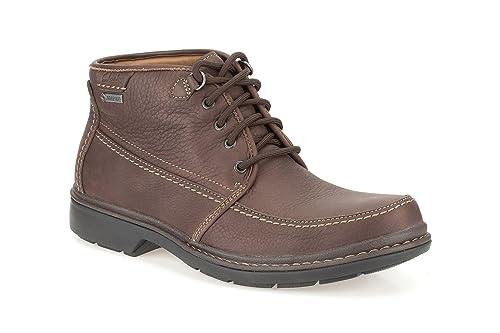 Clarks Rockie Top GTX - Botas de Piel para Hombre Marrón marrón: Amazon.es: Zapatos y complementos