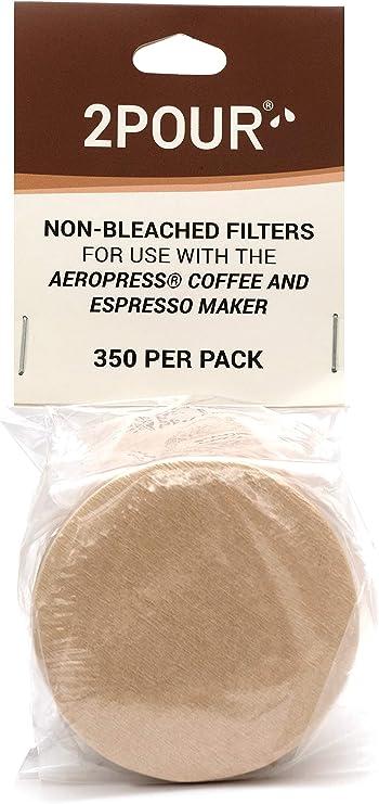 350 x Filtros de papel para usar con la cafetera Aeropress ...