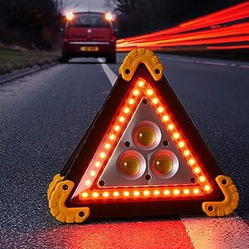 LED Triangle Warning Emergency Light Flashing Sign 4 Modes Car Roadside Safety