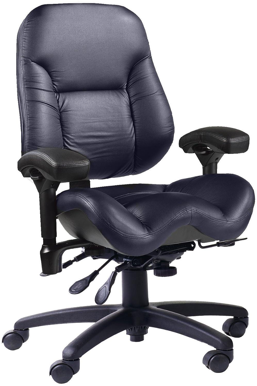 amazon com bodybilt j2502 indigo ultraleather high back task