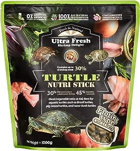 Ultra Fresh - Turtle Nutri Stick, Wild Sword Prawn, Calcium & Vitamin D-Enriched Aquatic Turtle Food with Probiotics for Picky Turtles