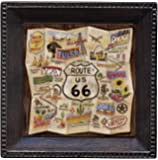 Thirstystone Ambiance Coaster Set, Route 66 Map, Multicolored