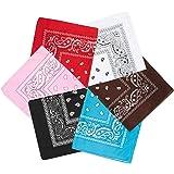 GuKKK 6-pack bandana bomull halsduk bindhandduk bomull hår sjal ansats handled förpackning band huvud, set för kvinnor…