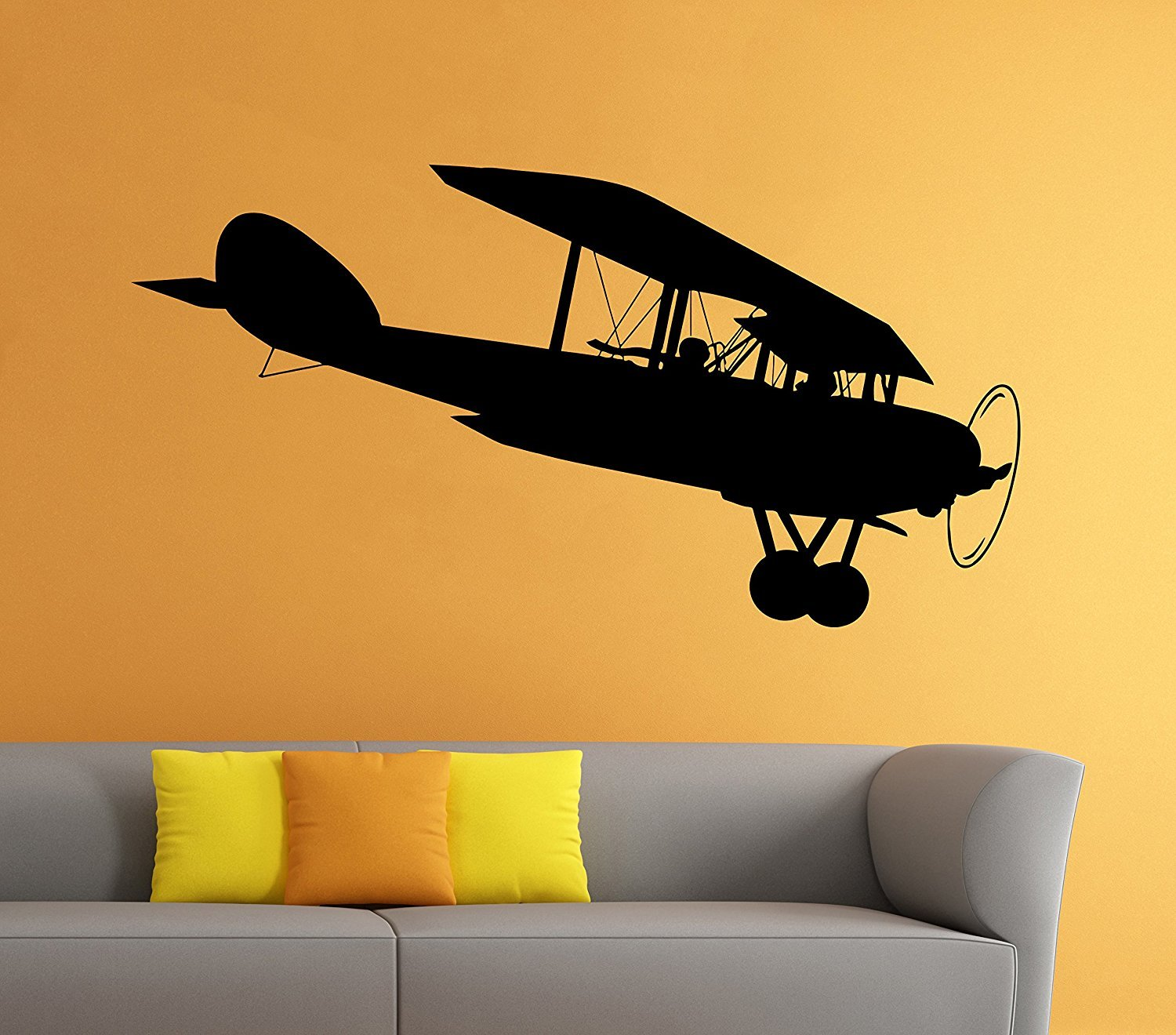 Amazon.com: Airplane Plane Wall Vinyl Decal Aviation Sticker Art ...