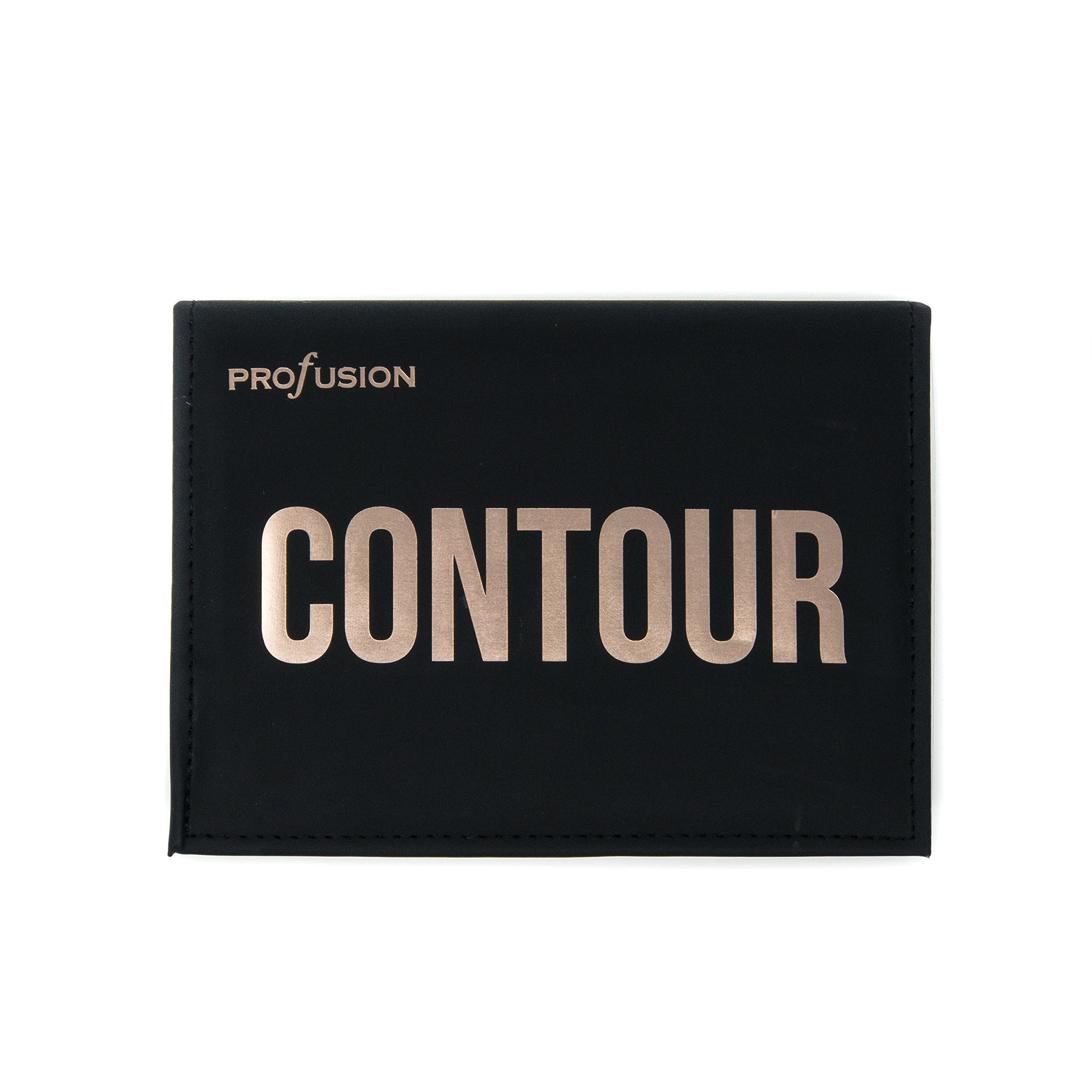 Profusion Cosmetics - Contour - Professional 8 Color Palette - Face Powder Highlighter Bronzer Makeup Kit Brushes Included - Champagne Highlight Nutmeg Ivory Peach Pale Gala Moonstone Java Ebony by Profusion Cosmetics (Image #8)