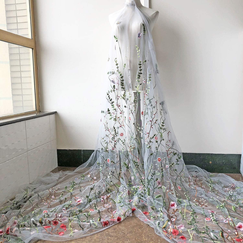 8cm DIY Embroidery Net Lace Trim Dress Skirt Ribbon Costume Home Decor per meter