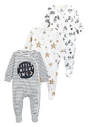next Bebé-Niñas Pack De Tres Pijamas Tipo Pelele con Estampado De Búhos (0 Meses - 2 Años) Crudo 1.5-2 años: Amazon.es: Ropa y accesorios