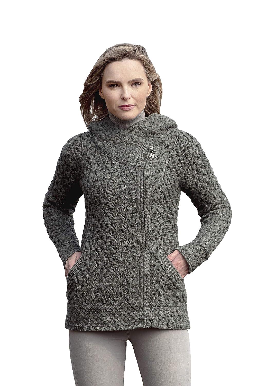 Tundra Aran Crafts Size Zip Hoodie (100% Merino Wool)