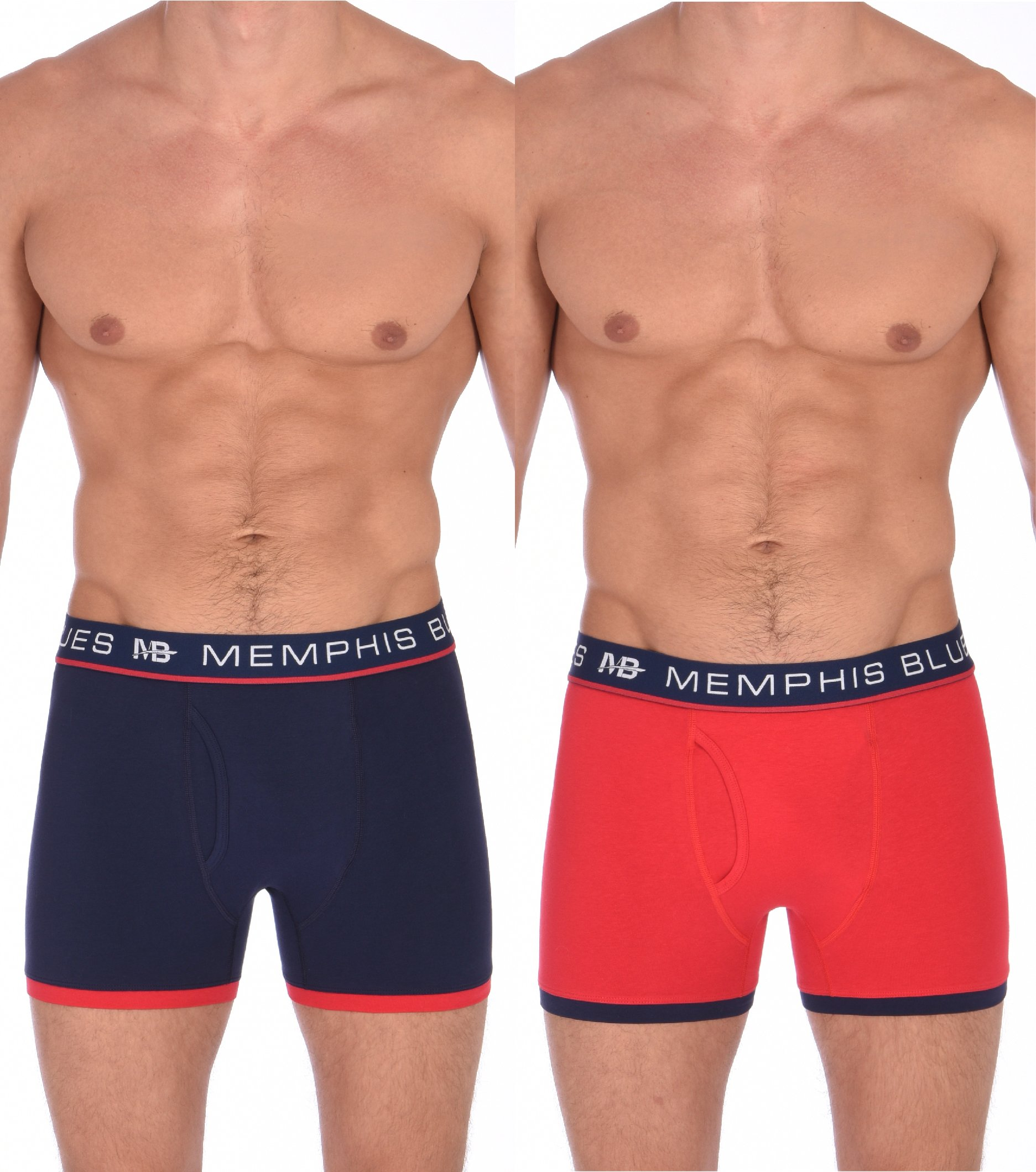 MEMPHIS BLUES Boxer Briefs for Men in Peacoat and Red