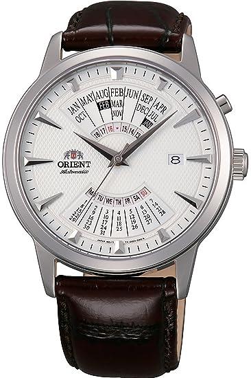 Orient Reloj Analógico para Hombre de Automático con Correa en Cuero FEU0A005WH: Amazon.es: Relojes
