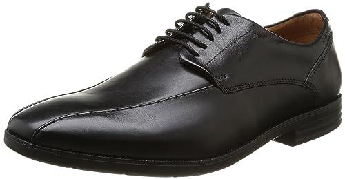 Tilden Plain - Zapatos con Cordones de Cuero Hombre, Color Negro, Talla 41 Clarks