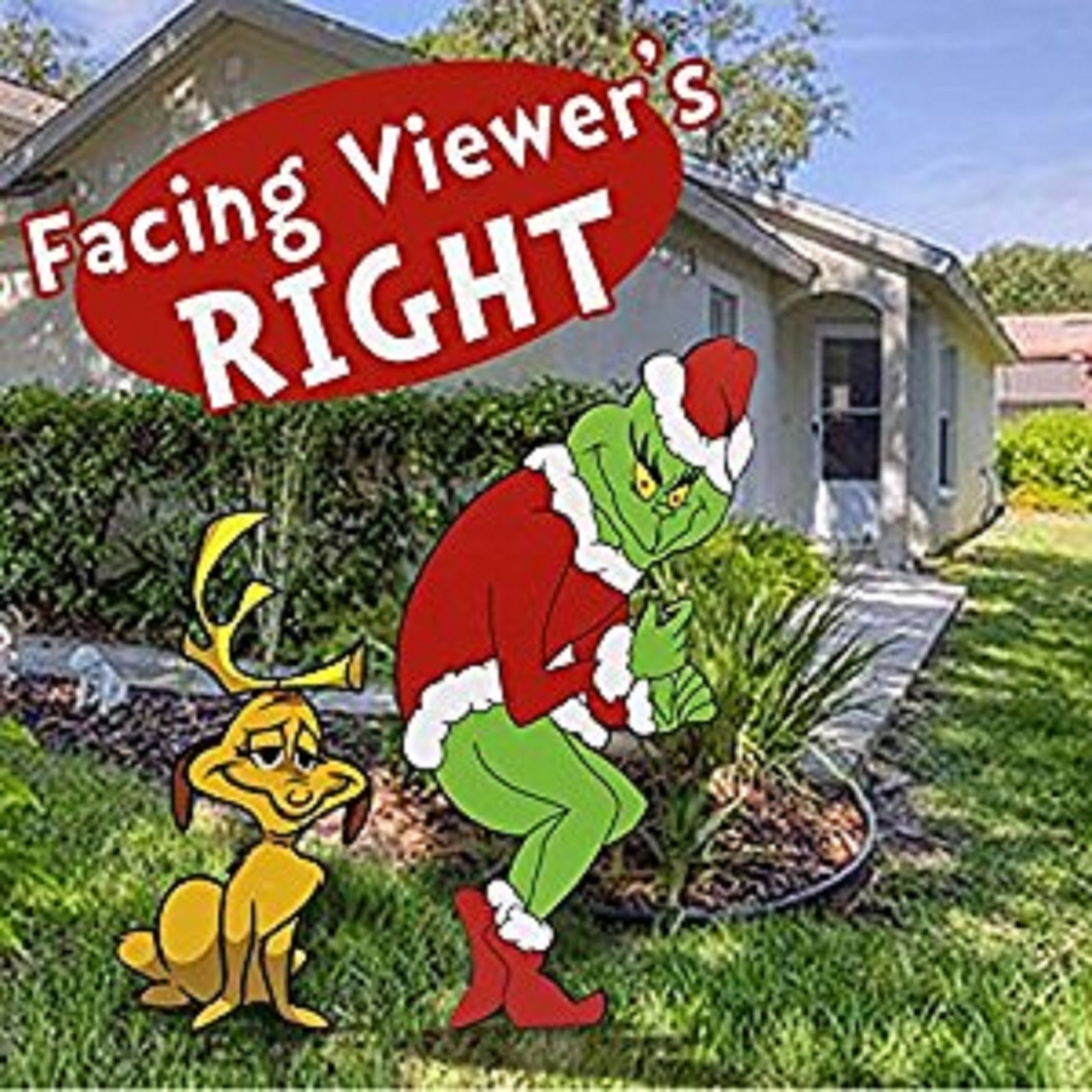 Grinch Stealing Christmas Lights Facing Right + Max by GGS
