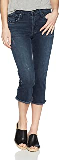 product image for James Jeans Women's Bernie Straight Leg Elongated Bermuda Jean in Dynasty