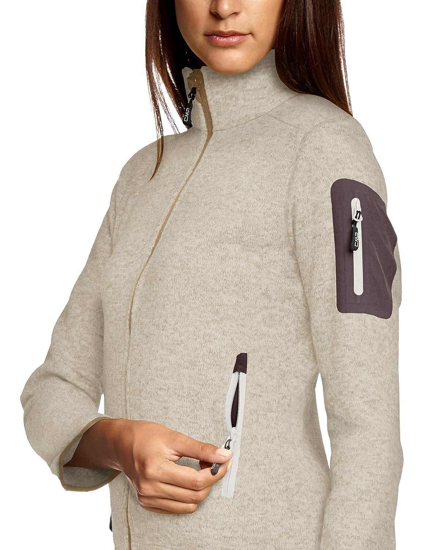 Beige CMP Pile Knit Tech 3H14746 D48 Sand//White Donna