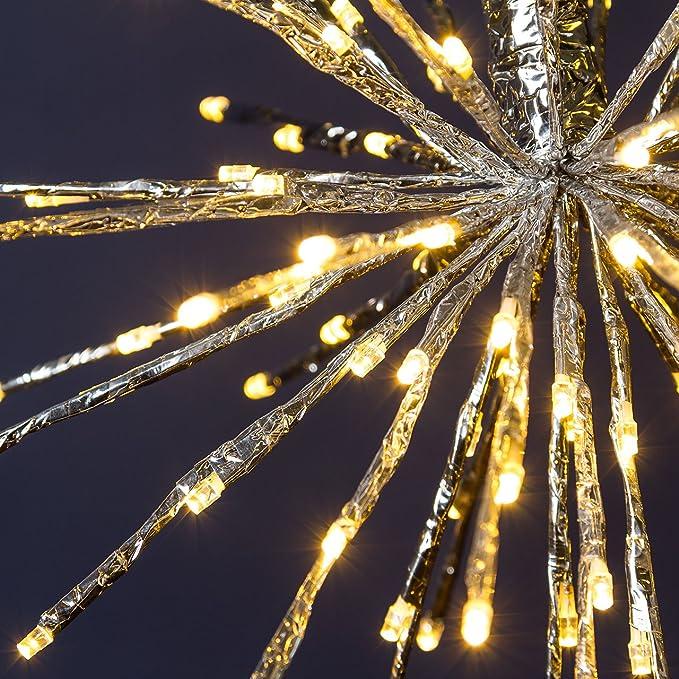 Éclairage De Classique Xmas Noël King Branchesphère Argent L354qcARj