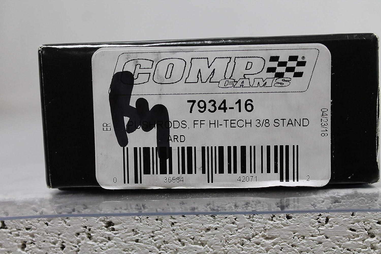 Dia Length 16 pc. Hi-Tech Push Rods 3//8 in 8.550 in
