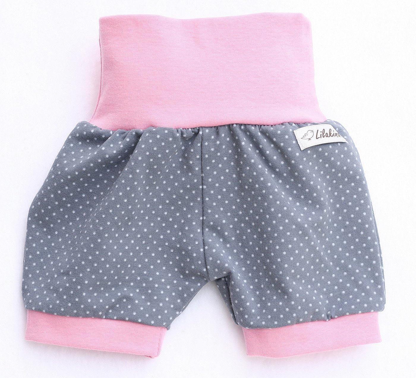 Lilakind Kurze M/ädchen Pumphose Shorts Buxe Sommerhose Punkte Made in Germany