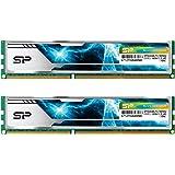 シリコンパワー デスクトップ用 メモリ ヒートシンク付 240Pin DIMM DDR3-1600 PC3-12800 4GB×2枚 1.5V CL9 無期限保証 SP008GBLTU169ND2