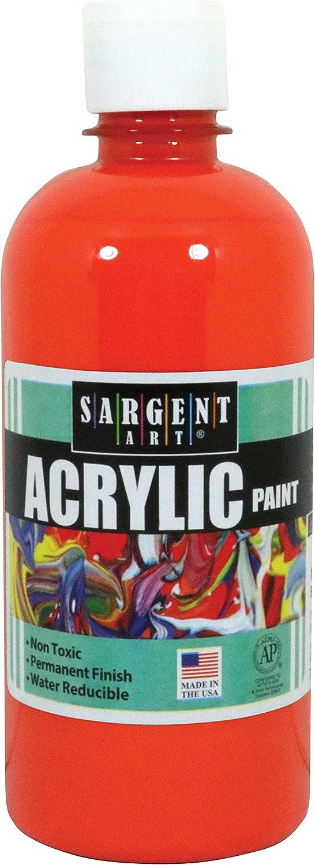 Sargent Art 24-2414 16-Ounce Acrylic Paint, Orange