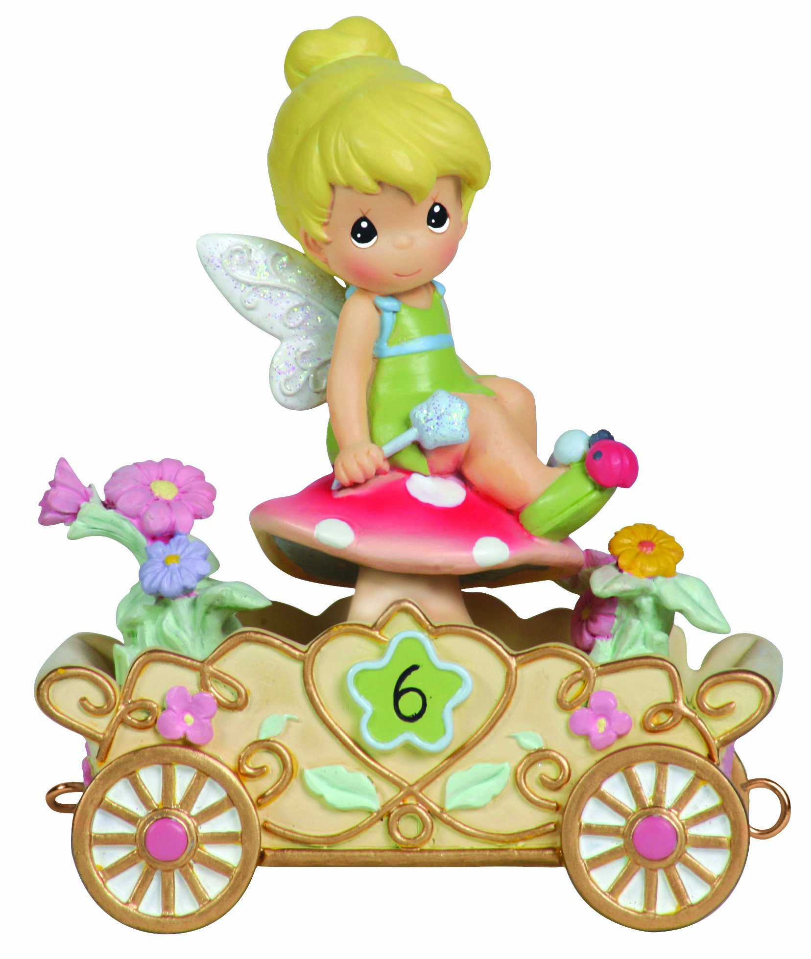 Precious Moments, Disney Showcase Collection,  Have A Fairy Happy Birthday, Disney Birthday Parade, Age 6, Resin Figurine, 104408
