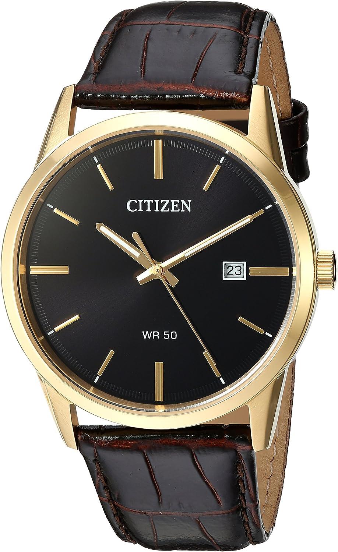 Citizen Reloj Analógico para Hombre de Cuarzo con Correa en Cuero BI5002-06E