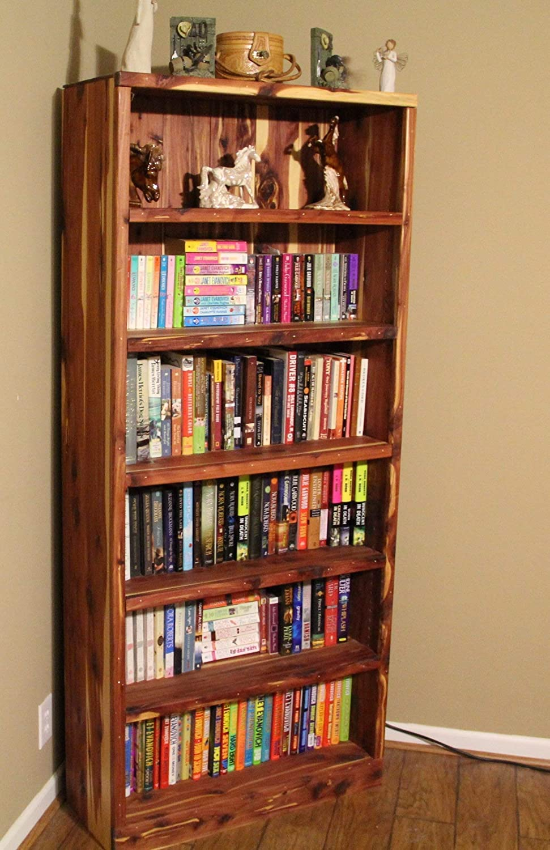 Amazon Com Cedar Bookcase For Living Room Bookshelf For Bedroom Wooden Bookcase Library Furniture Display Shelving Unit Rustic Furniture Cabin Bedroom Furniture Handmade