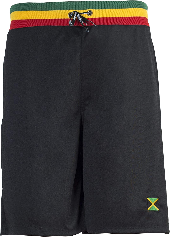 JL Sport Reggae Negro Unisex Baggy Gimnasio Deportes Baloncesto Boxeo Bermudas Pantalones Cortos Pantalones de Playa