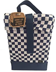 Vans blue checkerboard lunch box insulated sack reusable lunch bag 4e5f78294