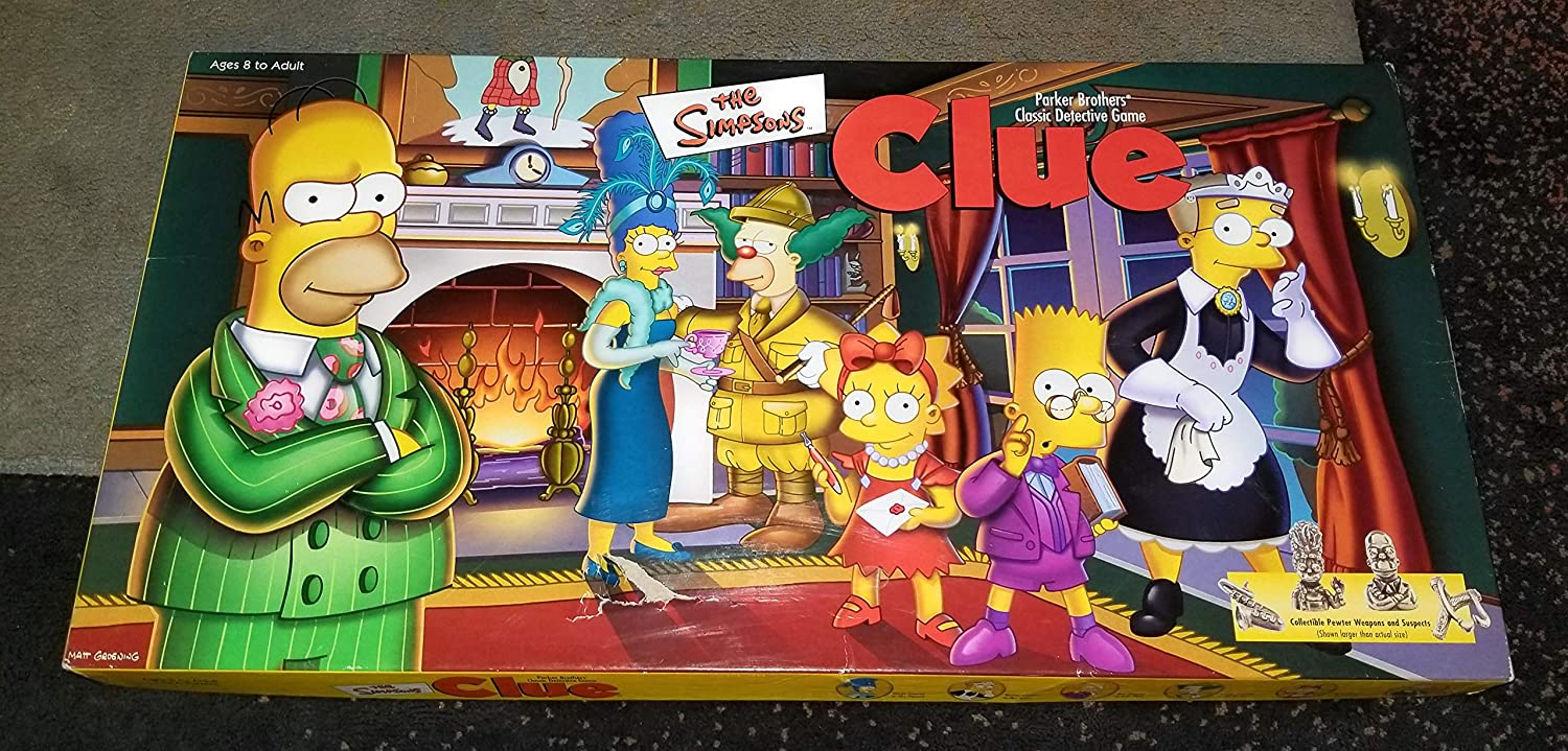 THE SIMPSONS CLUE Board Game 1st EDITION with Pewter Pieces by Parker Brothers: Amazon.es: Juguetes y juegos