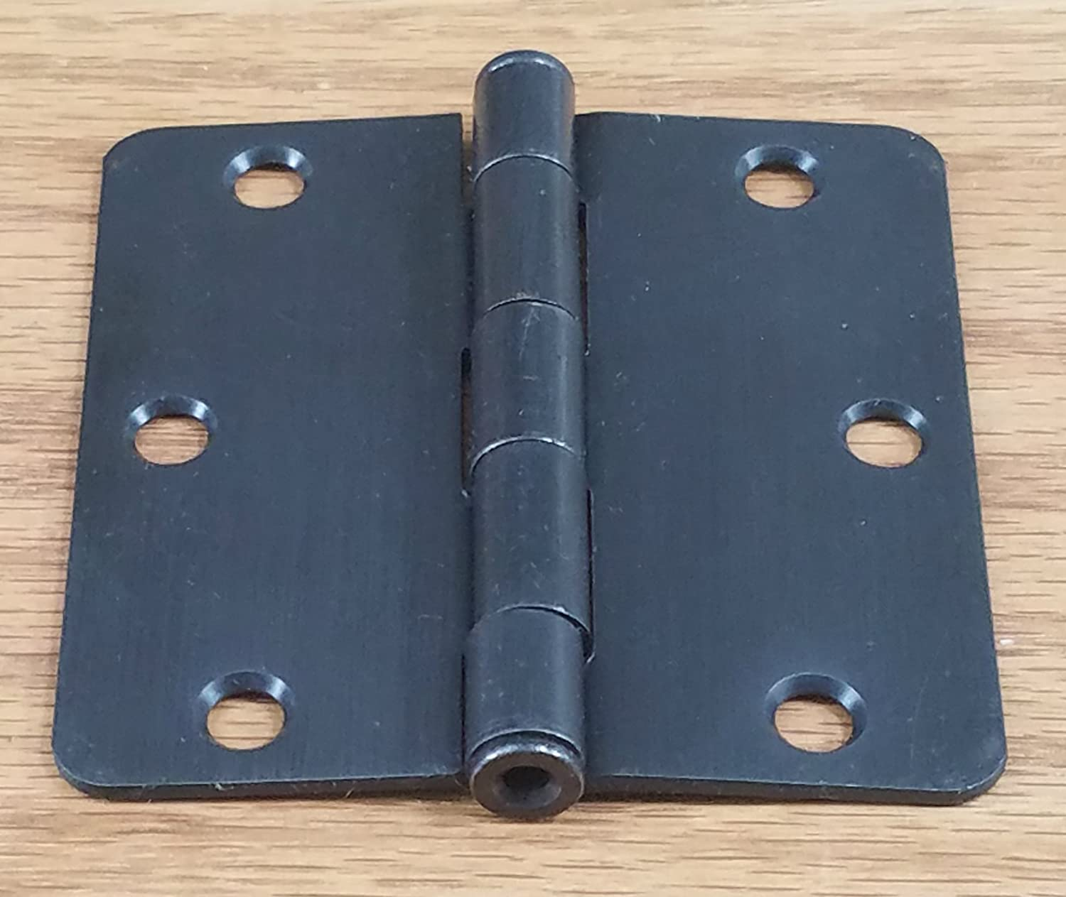 3.5 Inch with 1//4 Inch Radius 2 Pack Oil Rubbed Bronze Plain Bearing Hinge Outlet Interior Door Hinges