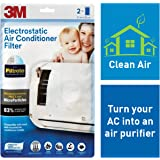 3M Anti Pollution Filter for converting AC into air Purifier (White, 2 Pieces)