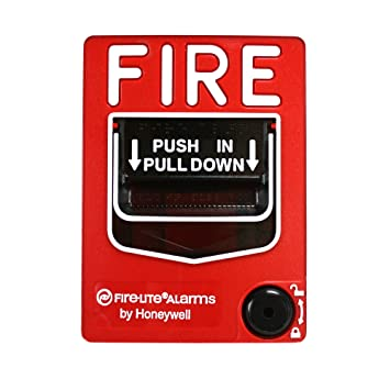 Fire Lite Alarms BG-12 Fire Alarm Dual Action Manual Pull Station, Red