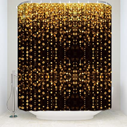 Amazon.com: Z&L Home Luxury Bling Shower Curtains Warm Lights ...