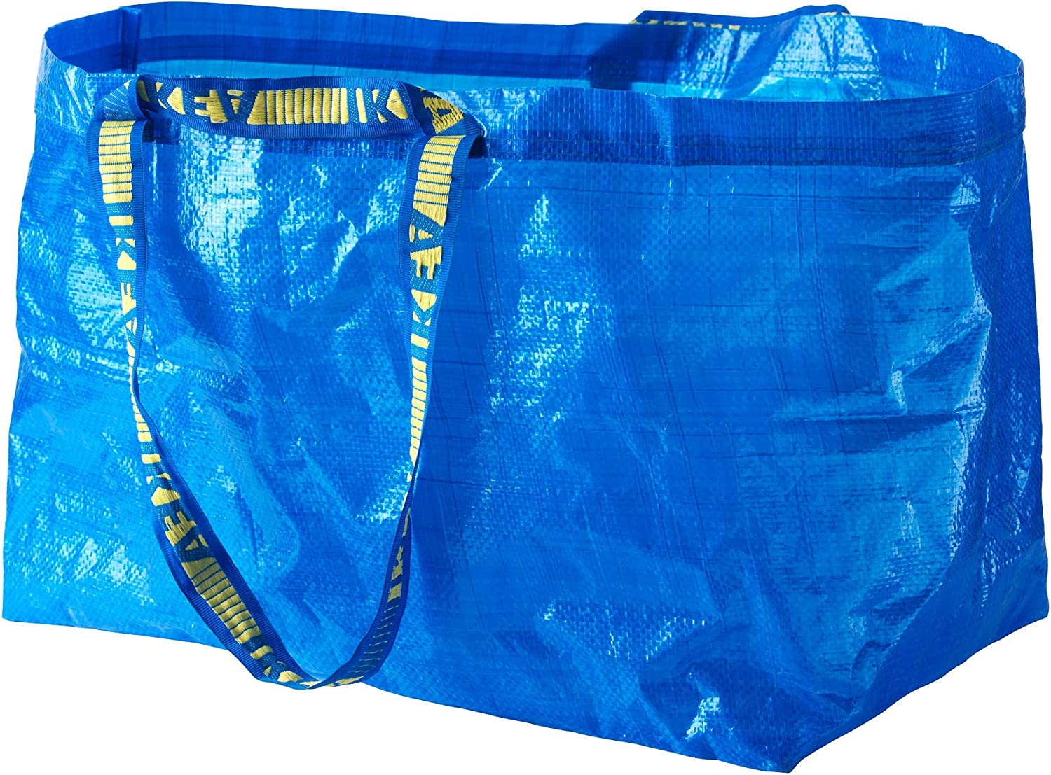 Ikea 172.283.40 Frakta Shopping Bag, Large, Blue, Set of 10