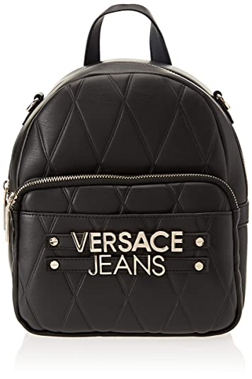 d227f4c5863d Amazon.com: Versace EE1VSBBL2 E899 Black Backpack for Womens: Shoes