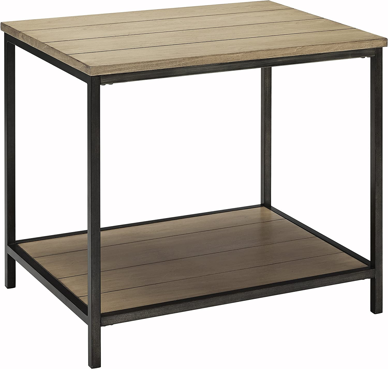 Amazon Com Crosley Furniture Brooke End Table Washed Oak Furniture Decor