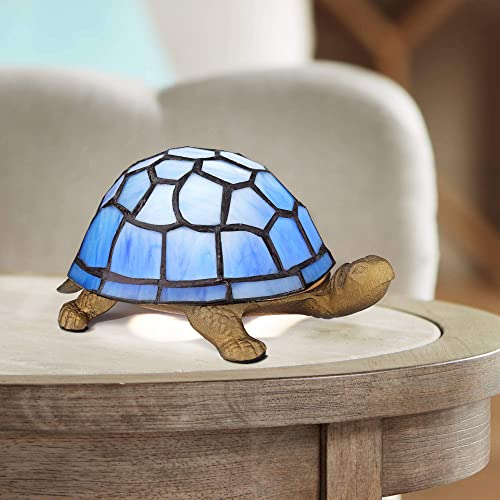 Blue Tiffany Shell 3 High Turtle Accent LED Lamp – Robert Louis Tiffany