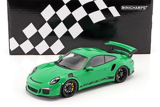 Minichamps - Porsche - 911/991 GT3 RS - 2015 Coche de ferrocarril de Collection, 153066228, Verde/Llantas Negras: Amazon.es: Juguetes y juegos