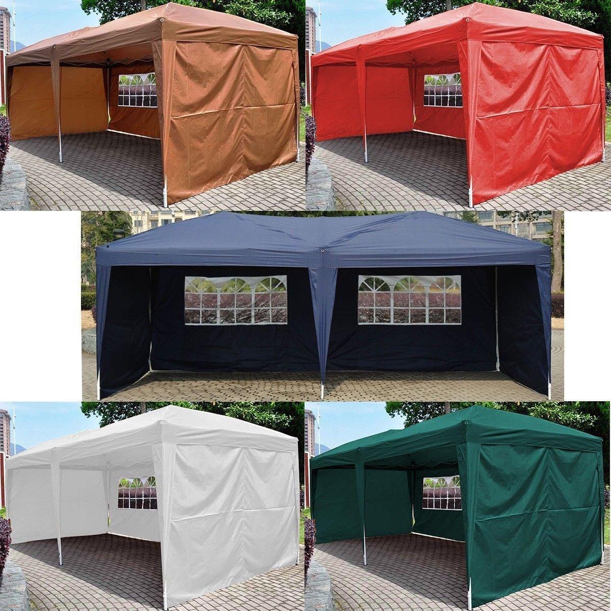 Generic YCUS150720-184 <8&11781> randomTent Foldin Folding Gazebo Beach 10¡¯X20¡¯ EZ POP UP Canopy W/Carry Bag Wedding Party Tent color random 10¡¯X20¡¯ EZ