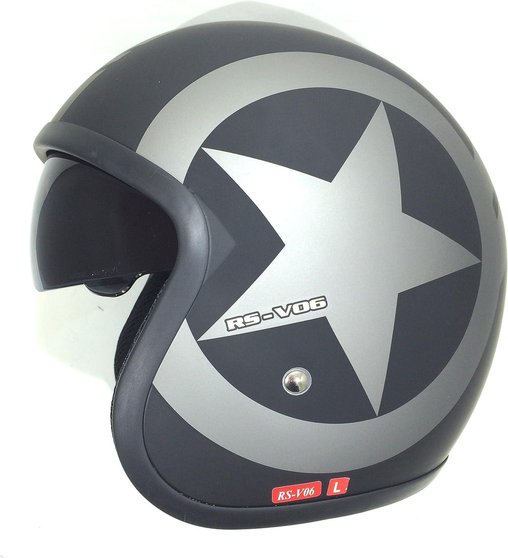 Viper Helmets Motorradhelm Rsv06 Matt Black Star 53 54 Cm Auto